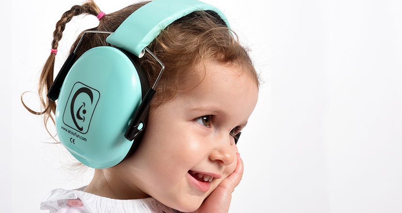 Baby picture with headphones